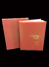 Barns of Indiana Vol 2 (Leather Bound) with Box Cover