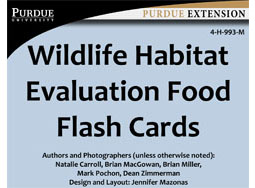 Wildlife Habitat Evaluation Program Food Flash Cards (mobile version)