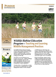 Wildlife Habitat Education Program - Teaching and Learning Wildlife Management Practices