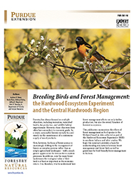 Breeding Birds and Forest Management: the Hardwood Ecosystem Experiment and the Central Hardwoods Region